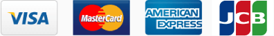 VISA、MasterCard、JCB、American Express